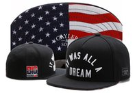Wholesale Cheap Usa Flags - Cayler & Sons snapback USA flag IT WAS ALL A DREAM ,men's skateboard adjustable basketball hats , cheap hiphop bboy flat bill caps
