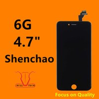 Wholesale Iphone Display Black - Grade A +++ Shenchao LCD Display Touch Digitizer Complete Screen with Frame Full Assembly Replacement for iPhone 6 iphone6 black white
