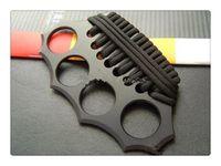 ingrosso coltelli di acciaio migliori-AZAN Knuckle Duster Cold acciaio TAIPAN caccia campeggio escursionismo attrezzi coltelli da sopravvivenza coltello Miglior regalo di Natale