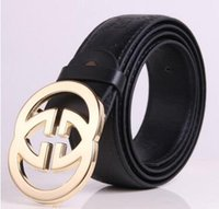 Wholesale Advanced Fashion - Men Belt leather Alloy Smooth Buckle Men casual advanced PU Belt Designer Popular Casual Business Male Belts