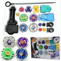 Wholesale Beyblade Metal Fight Launcher - NEW Top Fusion Metal Master Fight Rapidity Rare 4D Beyblade Launcher Set Kid Toy