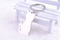 Wholesale cat crystal keychains resale online - BY DHL New Zinc Alloy Lovely Cat Keychains Novelty Metal Keyrings Gift
