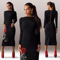 Wholesale Women S Winter Dress Sale - Plus Size S-3XL vestidos 2016 sale women dress cosy vestido o-neck long sleeve Floral Printed warm winter dress Vestido de festa