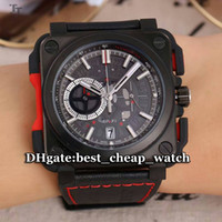 Wholesale Chronograph Watch Cheap - Super Clone Brand Watch BR AVIATION BR-X1 Skeleton BR X1-CE-TI-RED Quartz Chronograph Mens Watch Rubber Strap High Quality Cheap New Watches