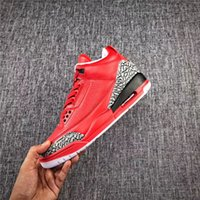 Wholesale Gray Burst - 2017 Release Air Retro 3 Grateful DJ Khaled Black and gray bursts Men Basketball Shoes Sneakers WE THE BEST Authentic Quality With Box