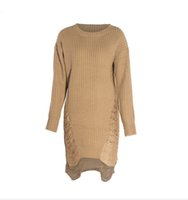 Wholesale Vintage Style Sweaters New - 2016 New Women Loose Sweater Dress Fashion Winter Autumn Elegant vintage Dresses sexy Long Sleeve Casual Womens Clothing black