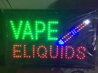 Wholesale Led Indoor Sign Open - 2016 New arriving super bright led open sign neon sign board open indoor Vape E-liquid sign