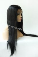 Wholesale Natural Hair Wigs Online - 2016 Top Grade Brazilian Virgin Hair Wholesale Online 8-24inch #1&1B&2&4&natural color straight Full Lace Wigs