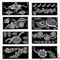 Wholesale Temporary Airbrush Tattoo Stencils Christmas - Hot Sale 1Pcs PVC Body Art Decal Temporary Tattoo Template Stencil Airbrush Print Model Sample 18 x 9cm
