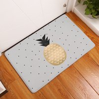 Wholesale Colorful Floor Mats - 2017 New Home Decor Anti-Slip Carpets Colorful Pineapple Fruit Pattern Mats Bathroom Livingroom Floor Kitchen Rugs 40X60 50X80cm