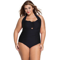 Wholesale Purple Halter Top Bikini Swimwear - Fringe Plus Size Ladies Swimwear Removeable Pad Triangle Halter Bathing Suits Tops Plus Size Bathing Suit Triangle Bottoms Bikini