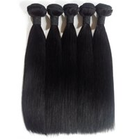 7A Unprocessed Malaysian Straight Virgin Hair Bundles Extensions 3 4 5pcs Natural Color Cheap Brazilian Indian peruvian remy hair wedoor DHgate