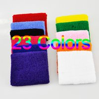 100PCS Terry Cloth Wristbands Sport Sweatband Hand Band Sweat Wrist Support Brace Wraps Guards For Gym Voleibol Basquete