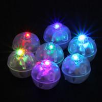 декоративное освещение шаров оптовых-Красочные круглые светодиодные RGB Flash Ball лампы шар огни погружной фонарь огни для фонаря Рождество свадьба украшения