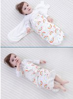 Wholesale Envelope Colour - Baby Sleeping Sack Bags Cotton Swaddle Blanket Toddler Bed Towels Giraffe Kid Bedding Wraps Baby Stuff 11 Colours Available