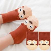 Wholesale Small Ears Cartoons - Small Infant Socks Little Ears Cotton Socks Kids Baby Cartoon Pattern Anti-slip Socks S M New Arrival