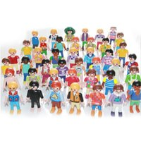 Wholesale Finished House - 10pc 7cm Playmobil figures toy set 2017 New Playmobil police pirate princess horse house action figurines doll lot gifts for kid