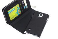 iphone casos de dinero titular al por mayor-Para Galaxy Note 4 S5 S4 S3 Multifuncional con cremallera billetera billetera Funda de cuero para teléfono celular con tarjetero Money Pocket para Samsung