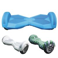 колесо для умного автомобиля оптовых-8 дюймов ховерборд электрический скутер защитный силиконовый чехол самостоятельно смарт баланс скутер автомобиль 2 колеса 4 цвета силиконовой кожи чехол часть