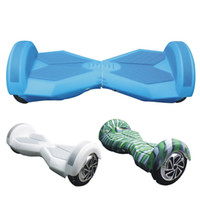 Wholesale 8 inch Hoverboard Electric Scooter Protective Silicone Case Self Smart Balance Scooter Car Wheels Colors Silicone Skin Case Cover Part