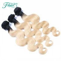 Wholesale two tone hair weave sale for sale - Group buy Ombre Hair Extensions Two Tone Blonde B Best A Brazilian Body Wave Human Hair Weave Bundles Holiday Sale Deals