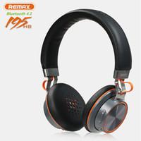 беспроводные наушники для ноутбука оптовых-Wholesale-New Fashion Remax 195HB BT V4.1 Deep Bass Headphone Wireless Stereo Headset With Mic For Laptop  Cell Phone iPad