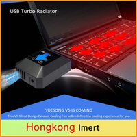 Wholesale Laptop Fans Cooler - Newest Suction Design LCD Low Noise Cooler YUE SONG V5 Exhaust Fan Vacuum USB Air Extracting Turbo Radiator for Laptop Notebook