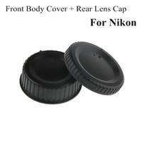 Wholesale Dslr Camera Body - Camera Lens Body Cover + Rear Lens Cap Hood Protector For All Nikon AF AF-S DSLR SLR Lens Dust Camera