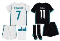 Wholesale Kids Uniform Wholesalers - kid set factory selling 2017 2018 Soccer Jersey 17 18 Home Away 3rd Soccer jerseys set with shorts Ronaldo ASENSIO uniform