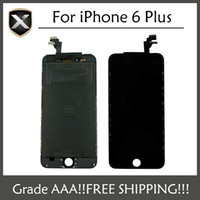 Display LCD per iPhone 6 Plus Touch Screen Digitizer Assembly con telaio riparazione di ricambio per iPhone 6 Plus LCD Spedizione gratuita