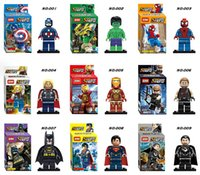 Wholesale minifigure Super Heroes The Avengers Iron Man Hulk Batman Wolverine Thor Building Blocks Sets Minifigure DIY Bricks Toys without package box