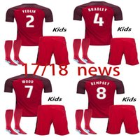 Wholesale Usa Suits - 2017 18 USA Soccer kid kit American National Team Gold Cup 2017 United States DEMPSEY DONOVAN BRADLEY PULISIC Football suit+sock