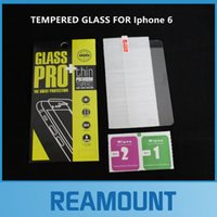 Wholesale iphone i6plus online – custom 50pcs Ultra Thin mm Premium Tempered Glass Screen Protector For iPhone S i6plus i5 HD Toughened Protective Film