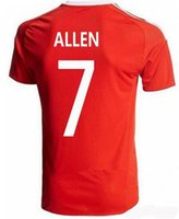 14a9d3b6f90 Soccer Jersey Customize Any Football Shirts Wales Soccer Jersey 10 AARON  RAMSEY 11 GARETH BALE ALLEN TAYLOR WARD 9 ROBSON-KANU 6 WILLIAMS Ho ...
