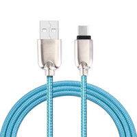 Wholesale Mixed Zinc Alloy Gold - Zinc Alloy USB Type C Nylon Line cable for Xiaomi Htc Samsung type-c charger wire ZUK Z1 2 USB type c cables fast Charging letv