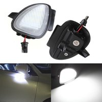 Wholesale Led Mirrors For Cars - 2 pcs Error Free 6 LED White Car Under Side Mirror Puddle Light Internal Lamps Fit for VW Golf6 GTI Cabriolet Passat B7 Touran
