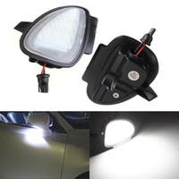 Wholesale Vw Passat Lamp - 2 pcs Error Free 6 LED White Car Under Side Mirror Puddle Light Internal Lamps Fit for VW Golf6 GTI Cabriolet Passat B7 Touran