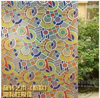 Wholesale Kitchen Door Glass Stickers - Household tint frosted glass stickers pervious to light opaque window balcony cellophane move the door window of the bathroom-4