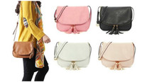 Wholesale Casual Messenger Bags For Women - Women Tassel zipper Bag Pu Leather Crossbody Saddle Bag Shoulder handbags Messenger Bag for women 5Colors Free Shipping