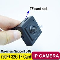 Wholesale Cctv Camera Tf Card - Hidden Camera 720P Mini IP Camera Home Security Pinhole Camera IP Camera Indoor Security CCTV IP Camera Pinhole 3.7mm Lens + 32G TF Card