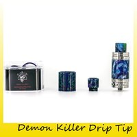 Wholesale baby kit s - Authentic Demon Killer Resin Kit Glass Tubes and Drip Tips for TFV8 Baby TFV12 Melo 3 Mini Ijust S Aomizer Tank 100% Original