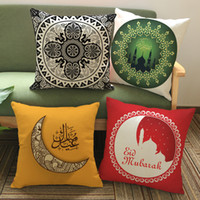 Wholesale Islamic Art Prints - Islamic Month Ramadan Culture Art 11 Styles Cushion Covers The Middle East Style Home Decorative Pillow Cover Linen Cotton Pillow Case