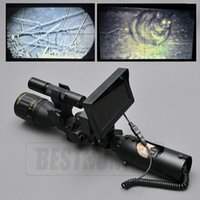 Wholesale Hunting Night Vision Infrared - Night Vision Riflescope Outdoor Hunting Scopes Optics Sight Tactical Digital Infrared With Battery Monitor and Flashlight