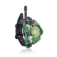 Wholesale Pair Watch Walkie Talkie - 2 Pcs - 7 Functions Digital Watches Style Walkie Talkie Toy with Compass and Magnifier for Kids (Pair) - Army Green
