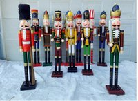 Wholesale Nutcracker Puppet - Creative Nutcracker Rank-and-file soldiers Puppet gift 120cm craft sales of 1.2 meters Nutcracker soldiers living