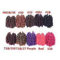 Wholesale freetress braiding hair resale online - Freetress African X Jumpy wand curl Synthetic braiding Hair bulk Crochet Braids Twist Synthetic hair extensions more colors