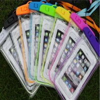Wholesale cell phone cases abs - Night light Waterproof Bag For Swimming waterproof phone bag Cell Phone Dry Bag Universal For Adroid and IOS Phone Multi-Color
