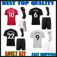 Wholesale United Soccer Shirt - LUKAKU 17 18 man ATD soccer jersey adult sets+socks United IBRAHIMOVIC 2017 MATIC POGBA RASHAFORD MKHITARYAN third men kit football shirt