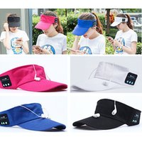 Wholesale Wholesale Flat Hats Sports - Summer Bluetooth Music Hat Smart Sun Hat Outdoor Sports Stereo Music Headset with Speaker Bluetooth Cap Hat YYA573