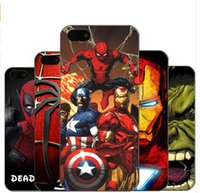 Marvel Avengers Superman Case Soft TPU Batman Dark Knight Spider Ironman Capitão América Shield Cover para iPhone 7 Plus 6 6S 5S 5